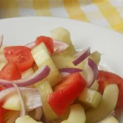 Photo of Crispy Cucumbers and Tomatoes in Dill Vinaigrette by Inspired by Home Cooks