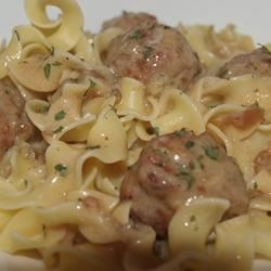 Anna's Amazing Easy Pleasy Meatballs over Buttered Noodles Recipe