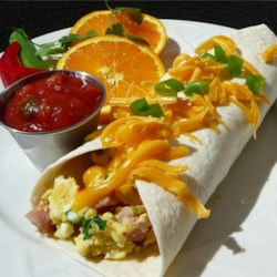 Ham and Cheese Breakfast Tortillas Recipe