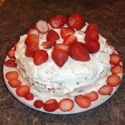 Whipped cream cake with cream cheese frosting