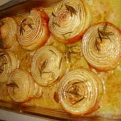 Baked Onions with Rosemary and Cream