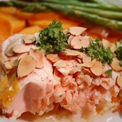 Salmon With Scalloped Sweet Potatoes Recipe