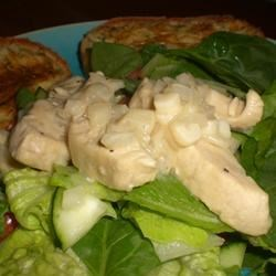 Lime-Garlic Chicken and Spinach Salad Recipe