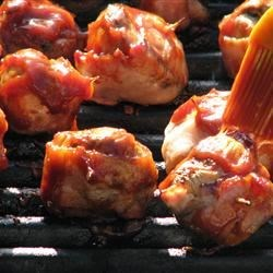Bacon Wrapped Mushrooms - Grilled