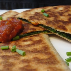 Spinach Whole Wheat Quesadillas Recipe