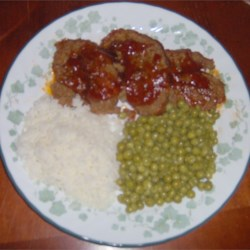 Sweet and sour Meatlof meal