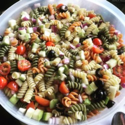 rainbow pasta salad ii printer friendly
