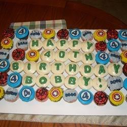 Bobby's super hero cupcake cake