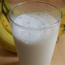 Icy Banana Milkshake Recipe