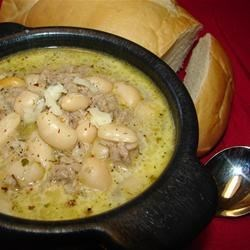 White Chili with Ground Turkey