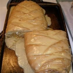 Apple Carmel Braided Egg Bread