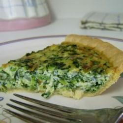 Spinach Quiche with Kid Appeal Recipe