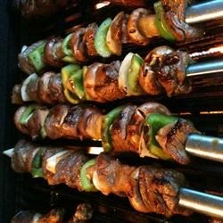 kabobs with whiskey marinade