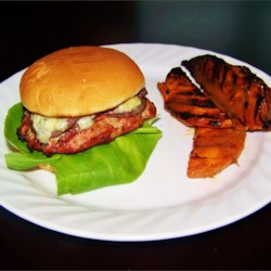 Mushroom Blue Cheese Turkey Burgers Recipe