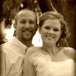 My and my husband Kris on our wedding day.