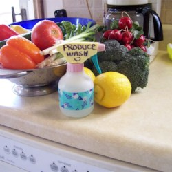 Vinegar-Based Fruit and Veggie Wash Recipe
