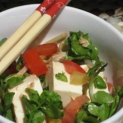 Easy Tofu Salad with Tuna and Watercress