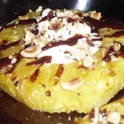 Grilled Pineapple with Nutella