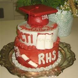 Grad cake with mm fondant decor
