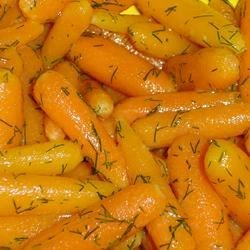 Baby Carrots with Dill Butter