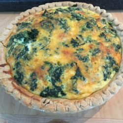 light and fluffy spinach quiche printer friendly