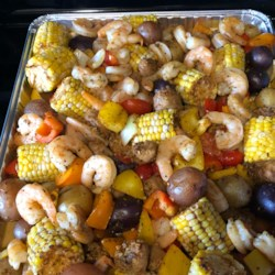 Sheet Pan Shrimp and Sausage Bake