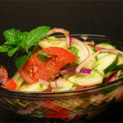 Cucumber, Tomato and Red Onion Salad with Mint Recipe