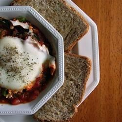 Shakshuka Middle Eastern Breakfast Dish Recipe