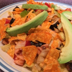 taco pasta salad with french dressing printer friendly