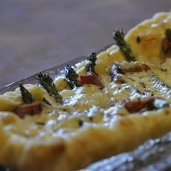 Asparagus, Prosciutto and Fontina Tart Recipe