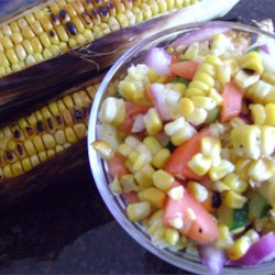 Grilled Corn Salad |