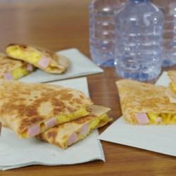 Ham, Egg, and Cheese Quesadillas