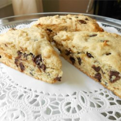 Hazelnut Chocolate Chip Scones
