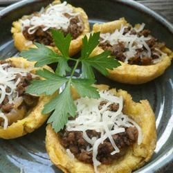 Tostones Rellenos (Stuffed Plantain Cups) Recipe