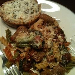 Spicy Sausage Broccoli Rabe Parmesan
