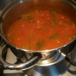 grecian green beans in tomato sauce printer friendly