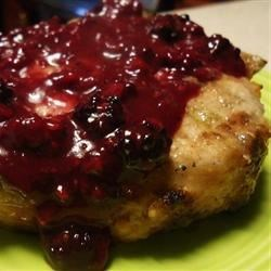 Pork Chops with Blackberry Port Sauce Recipe