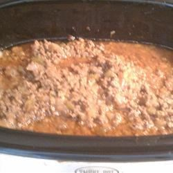 Slow Cooker Ground Beef Barbecue Recipe