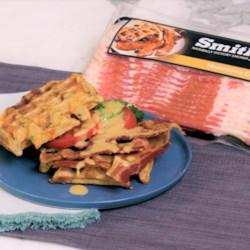 Make-Ahead BLT Waffle Sandwiches