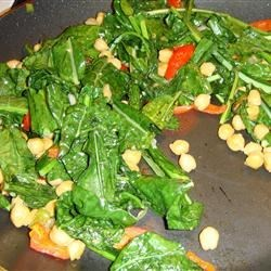 Photo of Sauteed Collard Greens and Garbanzo Beans by christifav