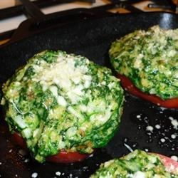 Ms B's Spinach-Topped Tomatoes Recipe