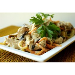 Easy Slow Cooker Chicken Tetrazzini  Recipe