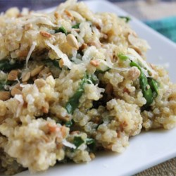 Cheesy Quinoa Pilaf with Spinach |