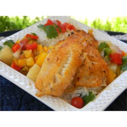 Photo of LaWanna's Mango Salsa on Tilapia Fillets by Allen Goforth