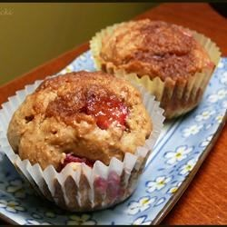 Photo of Vegan Rhubarb Cinnamon Streusel Muffins by GINGERCAT1