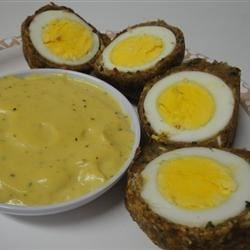 Scotch Eggs with Mustard Sauce Recipe