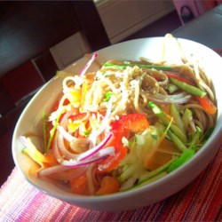 Cold Szechuan Noodles and Shredded Vegetables Recipe