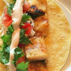 Grilled Fish Tacos with Chipotle-Lime Dressing Recipe