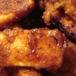 Crispy Barbequed Tofu Slices Recipe