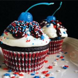 Ghirardelli(R) Dark Chocolate Cupcakes